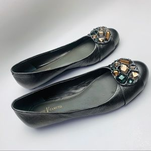 """Vince Camuto Richie Leather Beaded Flat Shoe 7.5"""""""